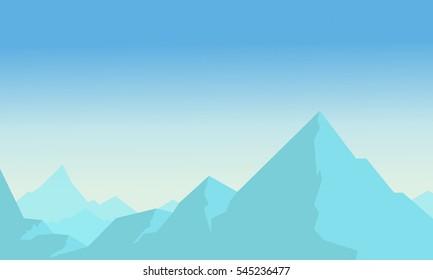 Vetcor flat of blue mountain