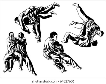 Vetctor collection of judo for cutting