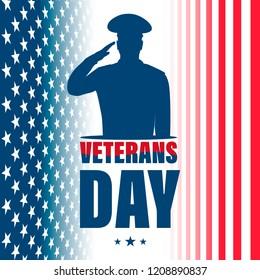 Veterans Day. American traditional patriotic holiday. Vector illustration.