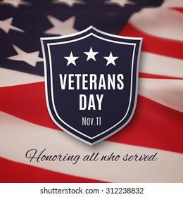 Veterans day background. Vector illustration.