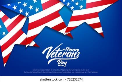 Veterans Day. Banner for USA Veterans Day celebration.
