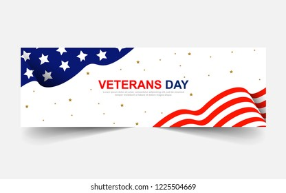 Veterans Day Banners Background