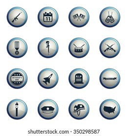 Veterans day chrome icons for web