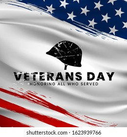 Veterans day. Honoring all who served. November 11, with simple typography. can use for, landing page, template, ui, web, mobile app, poster, banner, flyer, background