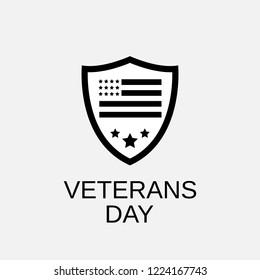 Veterans day icon. Veterans day symbol. Flat design. Stock - Vector illustration