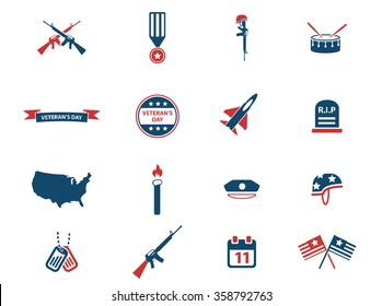 Veterans day simply icons