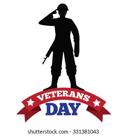 Veterans Day soldier silhouette design EPS 10 vector royalty free stock illustration for greeting card, ad, promotion, poster, flier, blog, article, social media, marketing