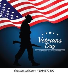 Veterans Day. Vector illustration