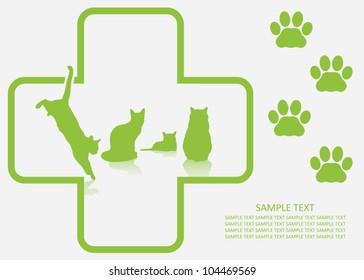 Veterinary background -vector illustration