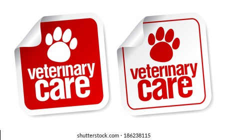 Veterinary care stickers.