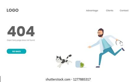 Veterinary consultant running. Error 404 Page