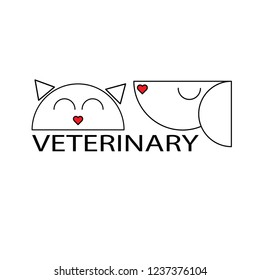 veterinary gog and cat logo vector clinic health