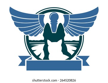Veterinary hospital symbol with banner.