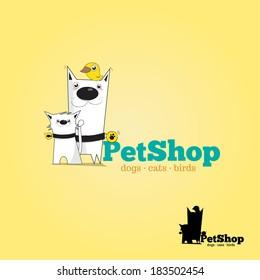 Veterinary Logo, pet shop, animals