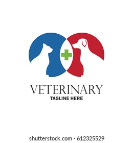 veterinary logo with text space for your slogan / tagline, vector illustration