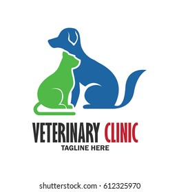 veterinary logo with text space for your slogan, tagline, vector illustration