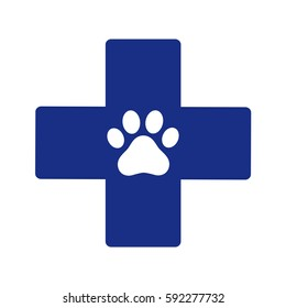 Veterinary symbol on a white background