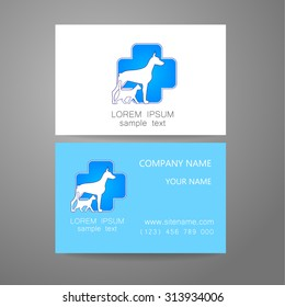 Pet business card images stock photos vectors shutterstock veterinary template logo the idea of the logo for the veterinary service pharmacy reheart Image collections