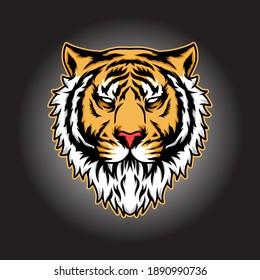 vetor illustration of lion head