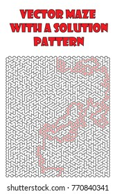 Vetor maze pattern, llabyrinth isolated over white background