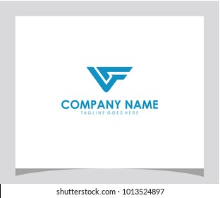 VF initial letter icon logo design vector