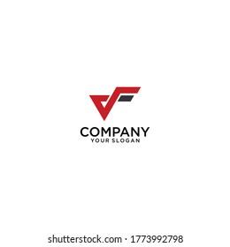 VF initial letter icon logo design vector