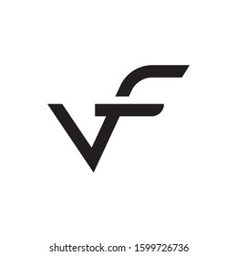 VF initial letter logo template vector icon design