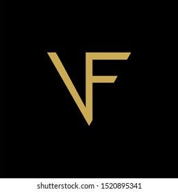 VF Letter monogram with abstrac concept style design