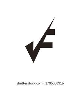 vf letter a vector logo design