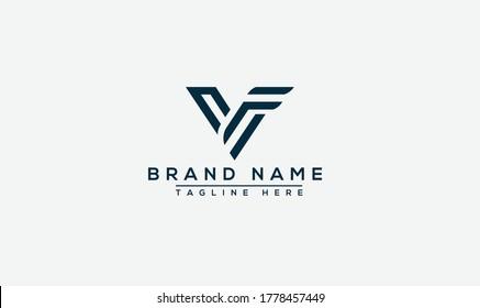 VF Logo Design Template Vector Graphic Branding Element.