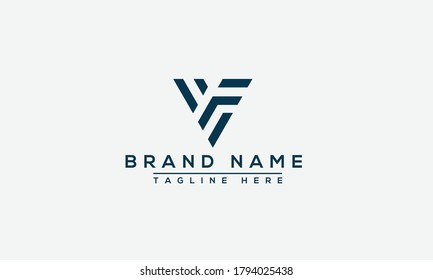 VF Logo Design Template Vector Graphic Branding Element.