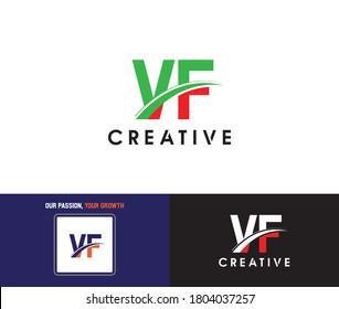 VF Logo Letter Stock For Business