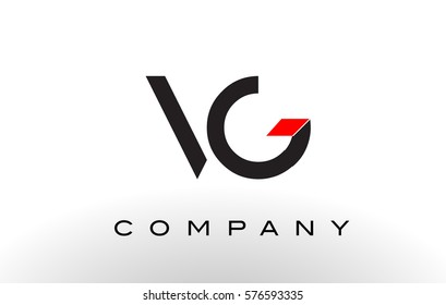 VG Logo.  Letter Design Vector with Red and Black Colors.
