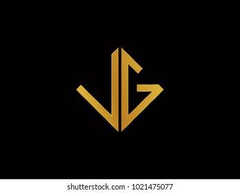VG square shape Gold color logo
