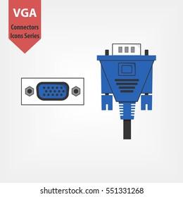 Vga Cable Images, Stock Photos & Vectors | Shutterstock on subwoofer plug, s-video plug, at keyboard plug, microphone plug, ps2 plug, av plug, network plug, rgb plug, grounded plug,