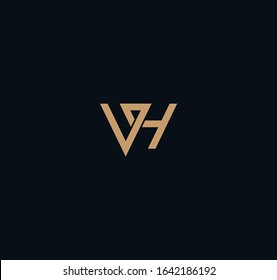 VH or HV logo and icon designs