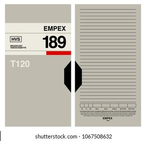 VHS box design