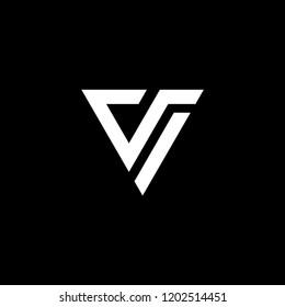 vi logo initial  triangle