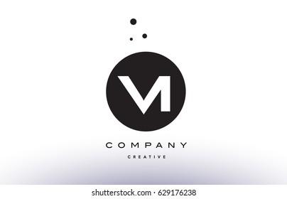 VI V I alphabet company letter logo design vector icon template simple black white circle dot dots creative abstract