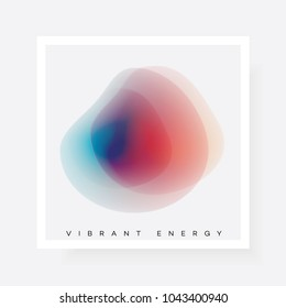 Vibrant abstract gradient blurred shape