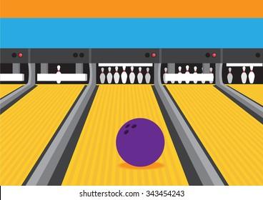 Bowling Lane Vector Images, Stock Photos & Vectors