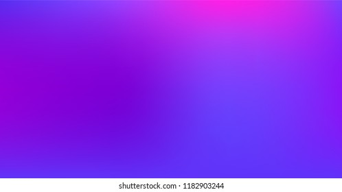 Vibrant Dreamy Purple Blue Gradient Vector Background. Sunrise, Sunset, Color Overlay, Sky, Water Neon Design Element. Luxury Trendy Holograph Defocused Texture. Minimal Tech Color Digital Gradient