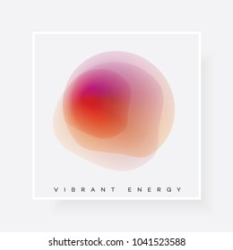 Vibrant gradient energetic abstract design element
