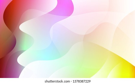 Vibrant And Smooth Gradient Soft Colors Wave Geometric Shape. For Cover Page, Poster, Banner Of Websites. Vector Illustration