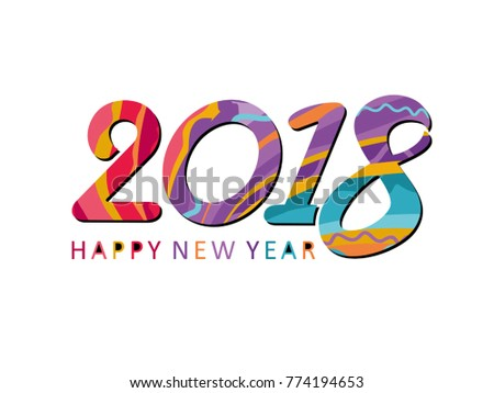vibrant vector template new year card 2018 happy new year