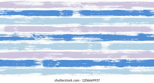 Vibrant watercolor brush stripes seamless pattern. and paintbrush lines horizontal seamless texture for backdrop. Hand drown paint strokes decoration artwork. For textile.