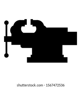 Vice Jaw vise Repair clamp tool icon black color vector illustration flat style image icon black color