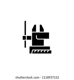 Vice process black icon concept. Vice process flat  vector symbol, sign, illustration.