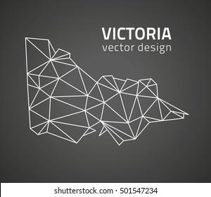 Victoria black vector contour triangle map