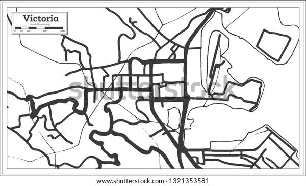 Victoria Seychelles City Map Retro Style Royalty Free